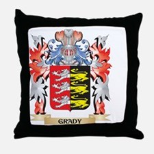 Grady Coat of Arms - Family Crest Throw Pillow