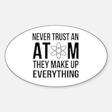 Cute Geek humour Sticker (Oval)