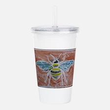 Bee Antique Clay Acrylic Double-wall Tumbler