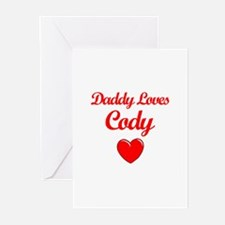 Daddy Loves Cody Greeting Cards (Pk of 10)