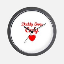 Daddy Loves Cody Wall Clock
