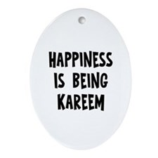 Happiness is being Kareem Oval Ornament