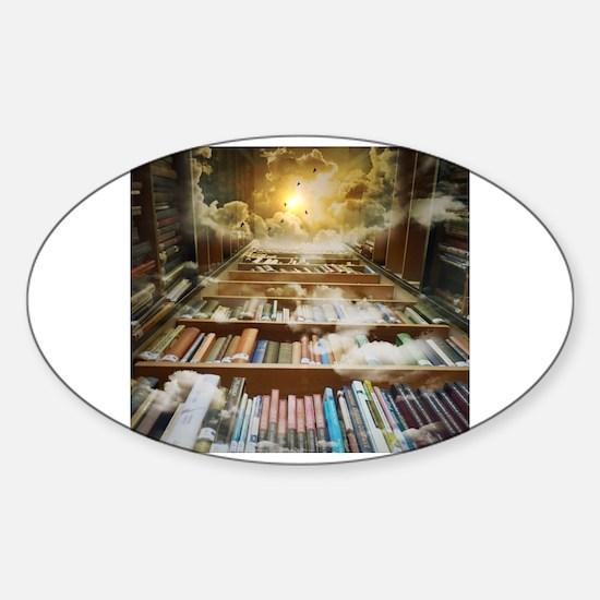 Cute Reader Sticker (Oval)