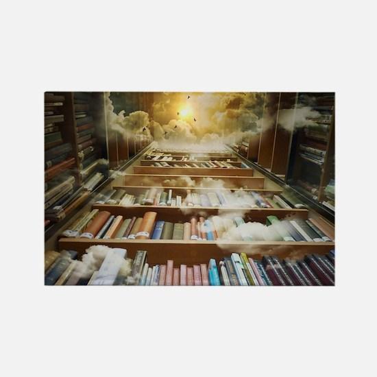 Cute Bookshelves Rectangle Magnet