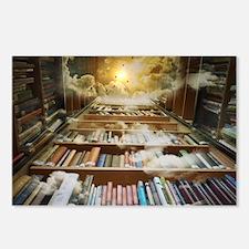 Cute Bookshelves Postcards (Package of 8)