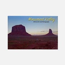 Monument Valley Sunset Rectangle Magnet Magnets