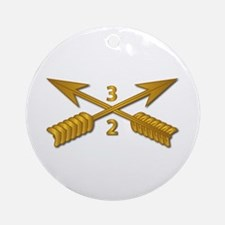 2nd Bn 3rd SFG Branch wo Txt Round Ornament