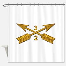 2nd Bn 3rd SFG Branch wo Txt Shower Curtain