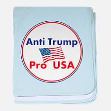 Anti Trump, Pro USA baby blanket
