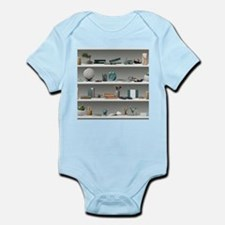 Office Shelves Wellness Teal Infant Bodysuit