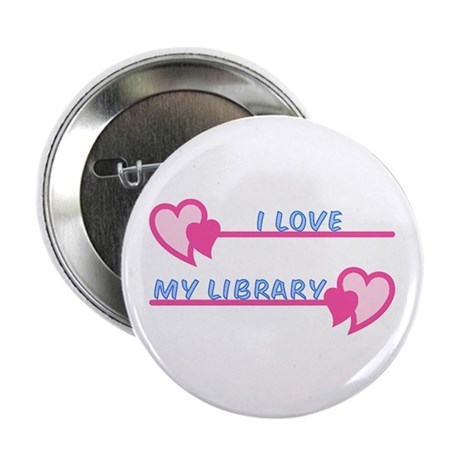 "I Love My Library-Pastels 2.25"" Button"