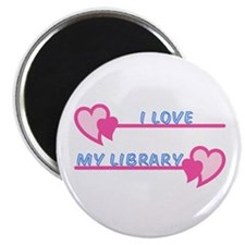 "I Love My Library-Pastels 2.25"" Magnet (10 pack)"