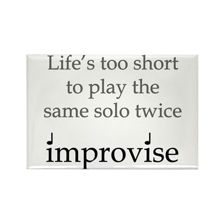 Improvise Solos Rectangle Magnet (10 pack)