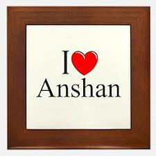 """""""I Love Anshan"""" Framed Tile"""