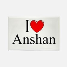 """I Love Anshan"" Rectangle Magnet"
