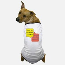 crowded womb - twins Dog T-Shirt