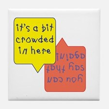 crowded womb - twins Tile Coaster