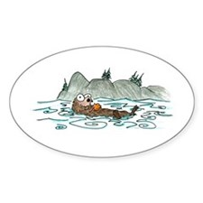 sea otter Oval Decal