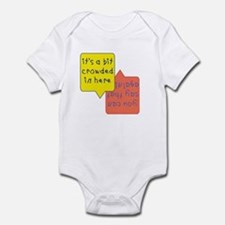 crowded womb - twins Infant Bodysuit