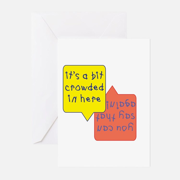 Crowded twins Baby shower invites (Pk of 10)