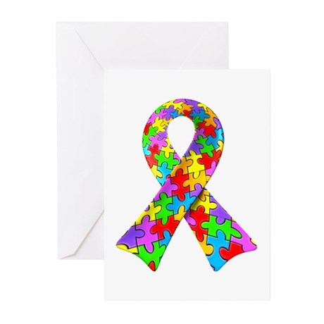 3D Puzzle Ribbon Greeting Cards (Pk of 10)