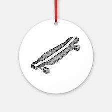 Skateboard Round Ornament