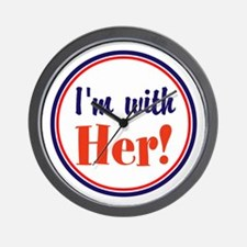 Im with her! Wall Clock