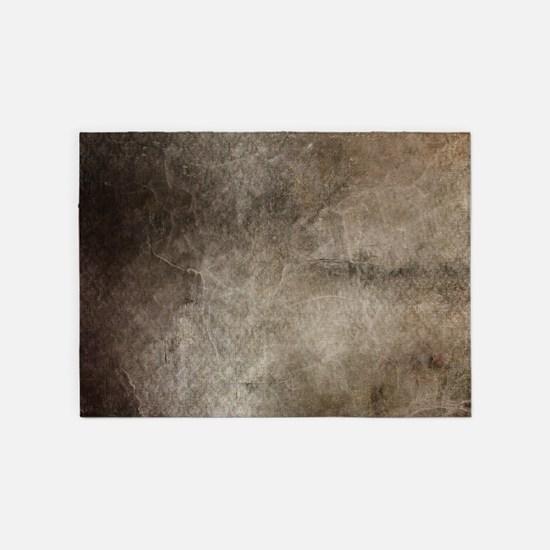 Old Vintage Grunge Grey Texture Dis 5'x7'Area Rug