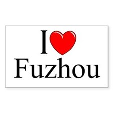 """I Love Fuzhou"" Rectangle Decal"