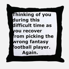 Funny Fan Throw Pillow
