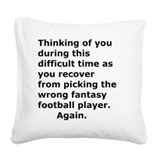 Fantasy football Square Canvas Pillows
