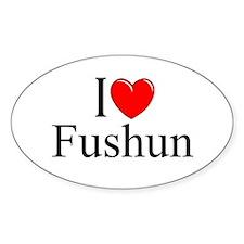 """""""I Love Fushun"""" Oval Decal"""