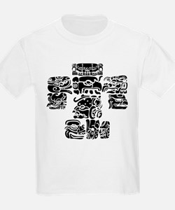 teoti-mayan-front-black-chopped T-Shirt