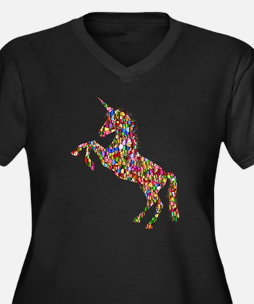 Prismatic Rainbow Unicorn Plus Size T-Shirt