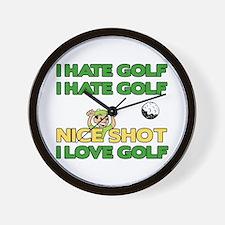 Golf Fun Wall Clock