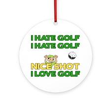 Golf Fun Ornament (Round)