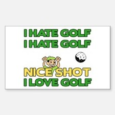 Golf Fun Rectangle Decal