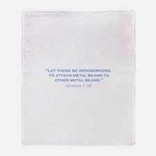 Ironworkers / Genesis Throw Blanket