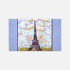 Eiffel Tower Pointillism Light Blue border iris st