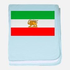 Flag of Persia / Iran (1964-1980) baby blanket