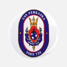 """USS Nebraska SSBN 739 3.5"""" Button"""