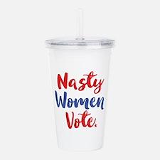 Nasty Women Vote Acrylic Double-Wall Tumbler