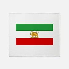 Flag of Persia / Iran (1964-1980) Throw Blanket