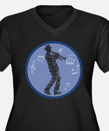 trumpet player build with notes Plus Size T-Shirt