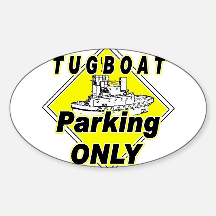 Tug Boat Parking Only Oval Decal
