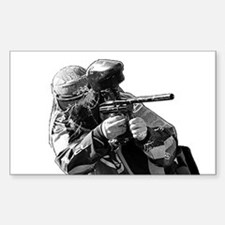 Paintball / Action - Rectangle Decal