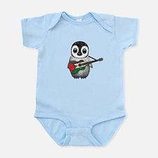 Baby Penguin Playing Palestinian Flag Guitar Body