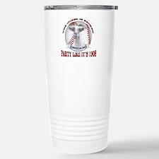 Chicago Baseball Party Stainless Steel Travel Mug
