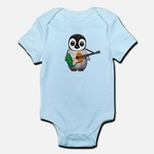 Baby Penguin Playing Irish Flag Guitar Body Suit