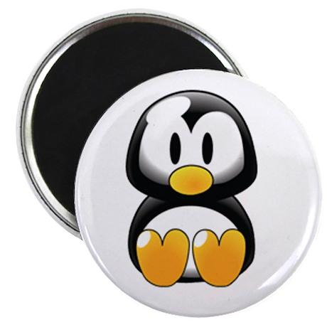 Cute Penguin Round Magnet